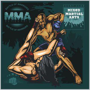 MMA Fight Clib - Vector Labels Mixed Martial Arts Design.